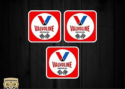 Adesivo Sticker Autoadesivo Bumper Vinyl Valvoline Racing Oil Flag Retrò Car