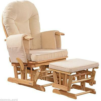 Nursing Glider Gliding Maternity Pregnancy Rocking Rocker Recliner Chair Seat