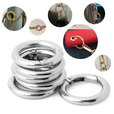 6pcs Circle Ring Hook Round Buckle Camp Spring Snap Clip Keychain Climbing Tool