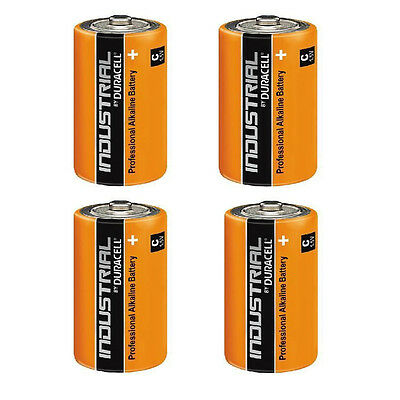 4 x DURACELL INDUSTRIAL C SIZE MN1400 LR14 ALKALINE BATTERIES REPLACES PROCELL