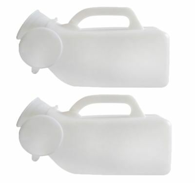 2X Male Portable Urinal Bottle With Handles Home Travelling Camping Festivals