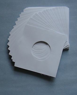 "7"" WHITE PAPER RECORD SLEEVES - (pack of 100)"