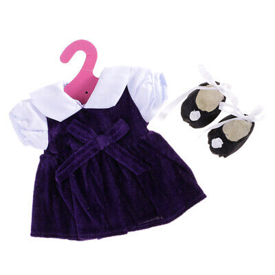 Hot Handmade Doll Clothes Purple Dance Set for 18 inch American Girl Doll