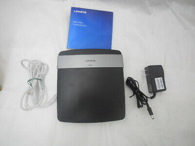 Linksys E2500 wireless router | 4 ethernet ports | WPS Push Button