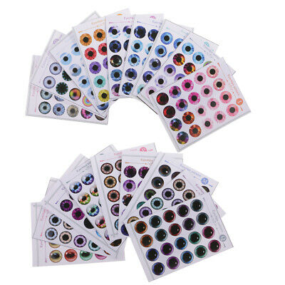 Lot of 18 Doll Eyes Chips Pattern (A-R) for 12'' Blythe Doll DIY Making ACCS