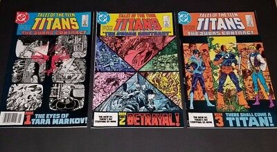 Tales of the TEEN TITANS Comic Lot - Judas Contract #42, #43, #44 1st Nightwing