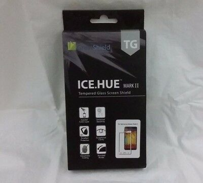 Screen Protector Samsung Galaxy Note 3 ICE HUE MARK II Tempered Glass Shield NIB