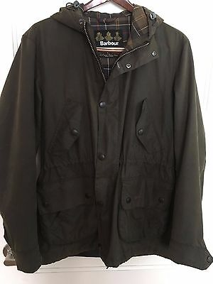 Barbour Derwent by J Crew waxed jacket rare size S