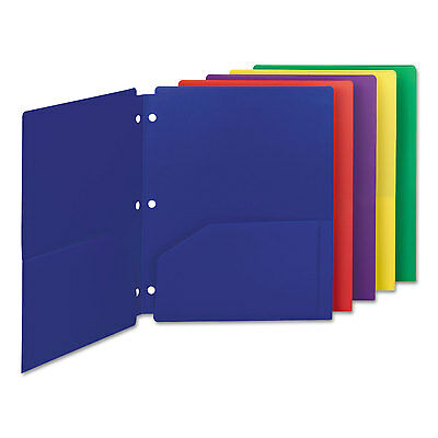 Smead Campus.org Poly Snap-In Two-Pocket Folder 11 x 8 1/2 Assorted 10/Pack