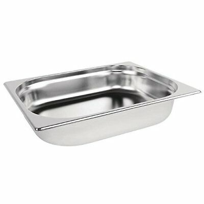 Stainless Steel Gastronorm Pan 1/2 Half Size Catering Tray 65mm Buffet Catering
