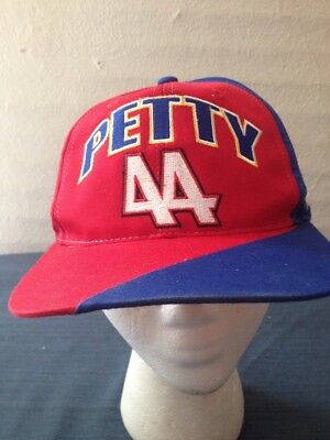 f4001f9eb95 Vintage Kyle Petty 44 NASCAR Hot Wheels Racing Red Blue SnapBack Ball Hat  Cap