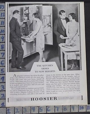 1928 Hoosier Cabinet Kitchen House Wife Home Decor Vintage Art Ad  Cg32