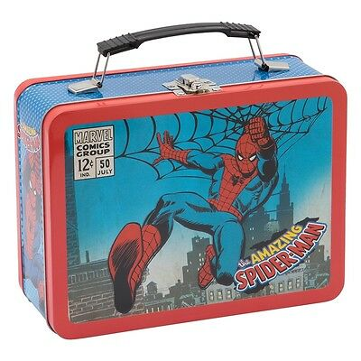 Marvel The AMAZING SPIDERMAN Large Tin Tote / Metal Lunch Box