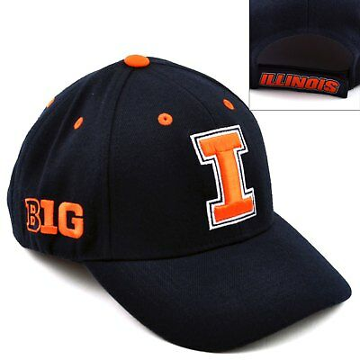 save off fc9f4 c75a6 Top of the World Illinois Fighting Illini Triple Conference Baseball Cap