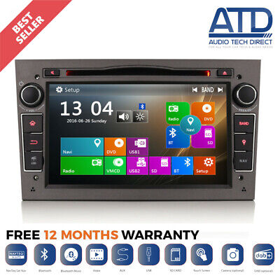 "7"" Car Bluetooth GPS SatNav Radio CD DVD Player Stereo For Vauxhall Zafira B Mk2"