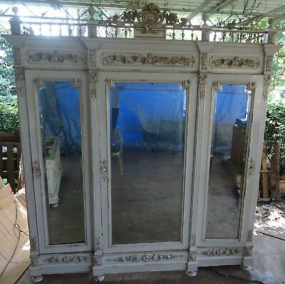 Palatial Ornate Stunningly Beautiful  Antique 3 Piece Bedroom Set Over 8 Ft Tall