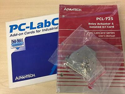 ADVANTECH - PCL-725 Rev:A2, 8 Relay, 8 Isolated Digital Input ISA Card [NEW]