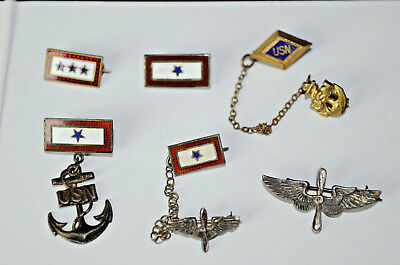 Lot of WWII son in service pins-Some are sterling silver-