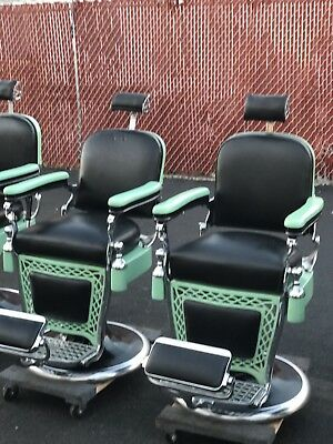 2 Antique barber chair Emil J Paidar totally Restored $5000 each