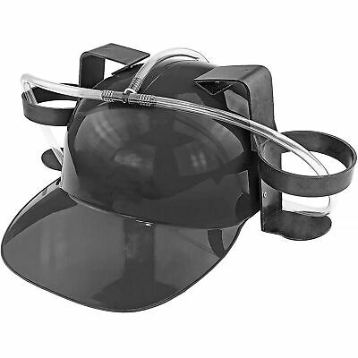 Beer & Soda Guzzler Helmet & Drinking Hat, Black - Party Hat - Novelty Gift NEW!