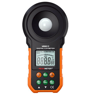 LCD Digital LUX Light Meter Auto Ranging W/ Backlight 200,000 LUX Photometer