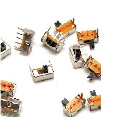 10x Side Slide Switch Mini Small Tiny 4mm ON/OFF Switches 3-Pin Low DC Voltage