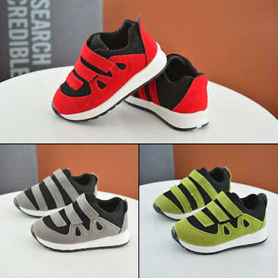 Toddler Children Girls Casual Sneakers Sports Shoes Breathable Baby Boys Pop