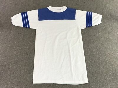 Vintage Ringer T-Shirt 50/50 White/Blue Men's Size S Small | NOS New Never Worn