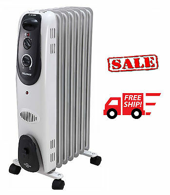 Pelonis Radiator Heater Electric Portable Adjustable Thermostat Oil Filled USED
