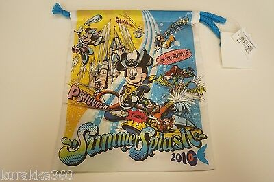 Tokyo Sea Disney Trading Pin Pouch Drawstring Bag Summer Splash Mickey Japan