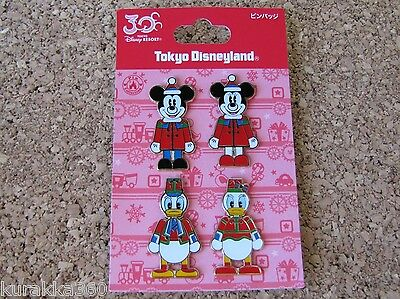 Disney Trading 4 Pin Set Tokyo Christmas Nutcrackers Mickey Minnie Donald 99347