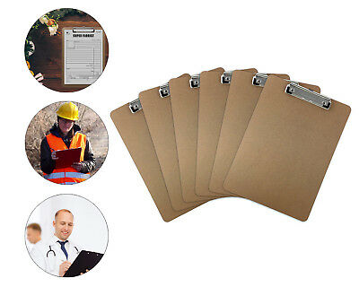 Letter Size Clipboard Brown Office Supplies Organizer Document Holder 6pcs Lot