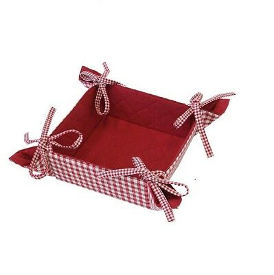 Classic Red Check Auberge Reversible Bread Basket