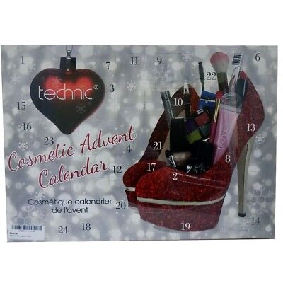 TECHNIC COSMETIC ADVENT CALENDAR glittery red shoes