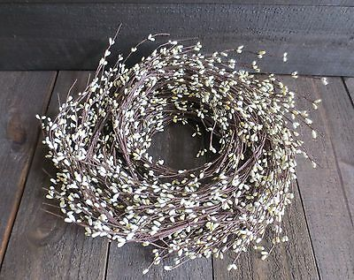 20 Foot Long Cream Ivory Pip Berry Garland Primitive Country Off White Berries