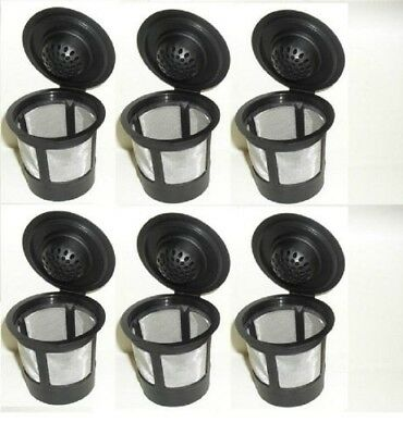 (6 Pack, Black) - Generic 6 x Solo Coffee Pod Filters Compatible with Keurig K