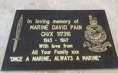 Large Granite Memorial Plaque Grave Stone Headstone Engraved High Quality
