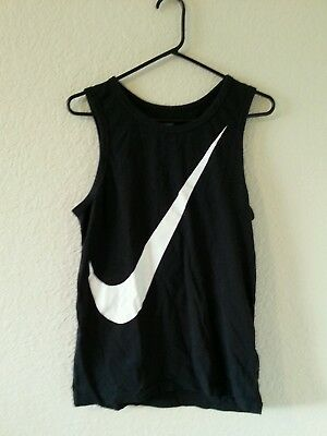Nike Regular Fit black white Tank Top men's size small