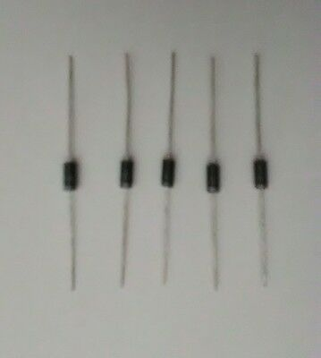 5-pcs 1N4001 silicon rectifier diode 50V 1A, great for Arduino