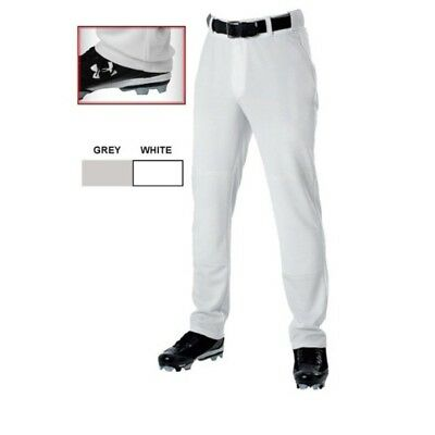 (Medium) - Adult Baseball Pants by Alleson Athletic - Open Bottom, Grey. TACVPI