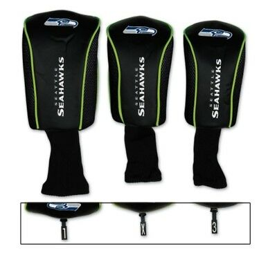 NFL Seattle Seahawks 3 pack Golf Club Mesh Headcovers by WinCraft. Free Shipping