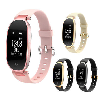Bluetooth Smart Watch Lady Wrist Bracelet Phone Mate For iPhone Samsung Android