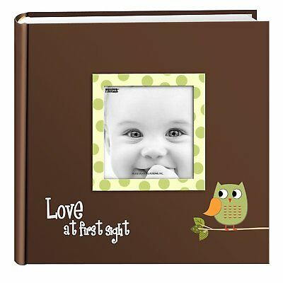 "Photo Album Pioneer 200 Photos 4""x6"" Chalkboard Printed ""Happiness"" Cover Black"
