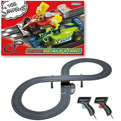 Micro Scalextric 1:64 Scale The Simpsons Grand Prix Race Set. Shipping is Free