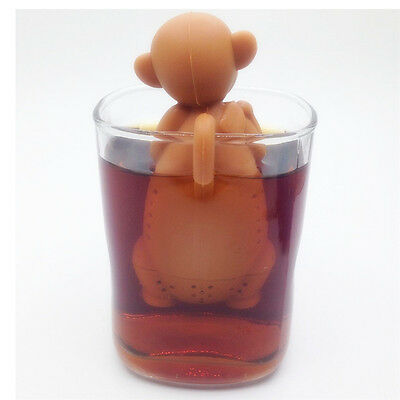 Silicone Monkey Shape Mug Cup Loose Leaf Herb Spiece Filter Tea Infuser Xmas