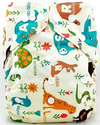 1/10Pcs Infant Printed Cloth Diaper Cover Reusable Nappy Covers Liner Insert UK