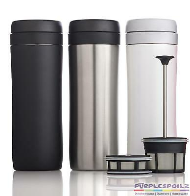 NEW ESPRO COFFEE TRAVEL PRESS 450ml Brushed Silver Tea French Berlin Insulated