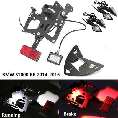 Fender Eliminator License Plate Bracket W' Indicators 4 BMW S1000RR 2014-2016