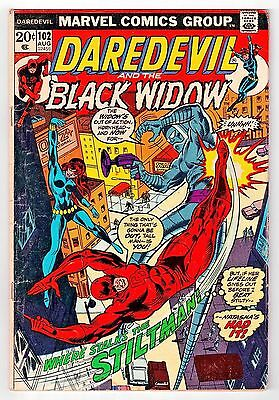 Daredevil #102 [Aug 1973] Marvel Comics Black Widow / Chris Claremont   VG