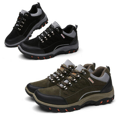 Mens outdoor Walking Hiking Waterproof Ankle Boots Trainers Antiskid boots shoes